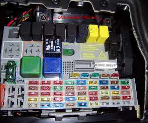 Printthread on fuse box in a holden astra